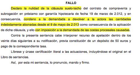 Nueva sentencia ganada contra ibercaja banco en materia de for Sentencia clausula suelo