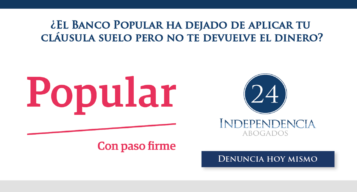 Cl usula suelo del banco popular independencia 24 for Abogados clausula suelo zaragoza