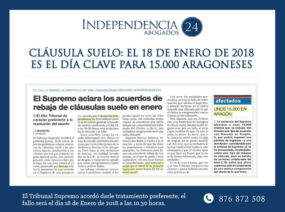 Cláusula Suelo Zaragoza